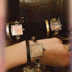 SCRIPTURE MEMORY BRACELET W/INSERTS THIN BAND